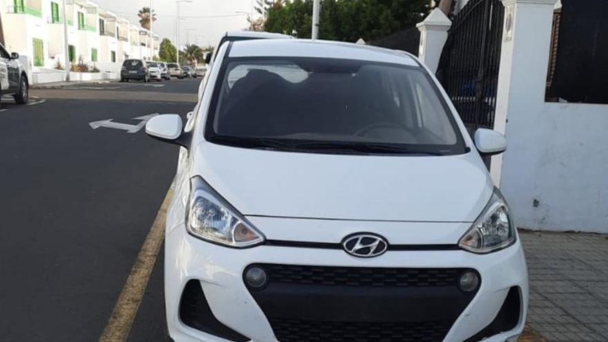 Detenido en Lanzarote por alquilar un coche y cambiarle la matrícula para no devolverlo