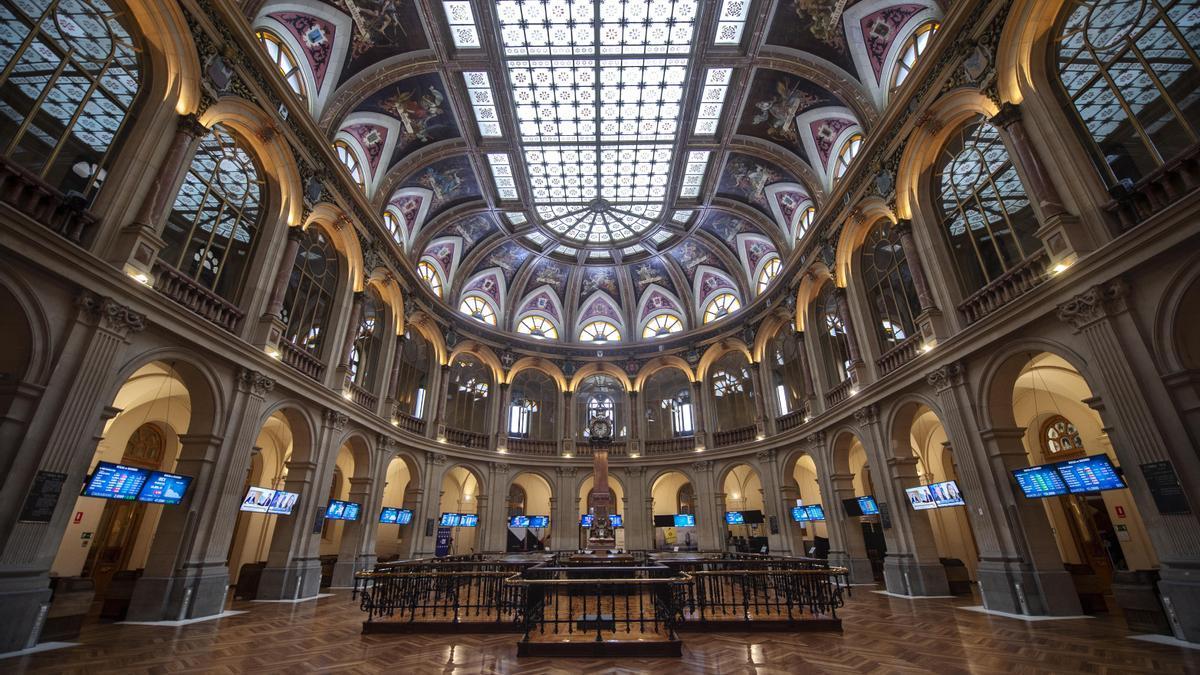 Instalaciones del Palacio de la Bolsa de Madrid.