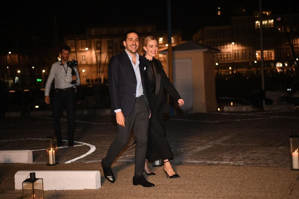 Marta Ortega y Carlos Torretta a su llegada al Náutico.