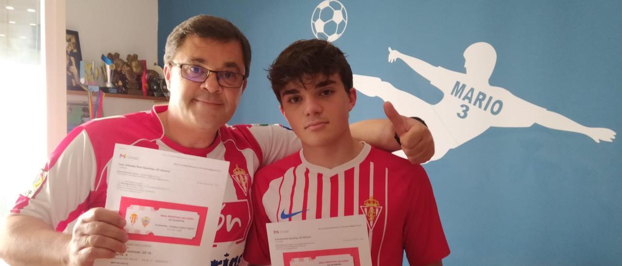 Rafa Sánchez y su hijo, Pablo.