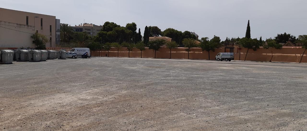 Emplazamiento del cementerio de Elche en el que se construirá el jardín