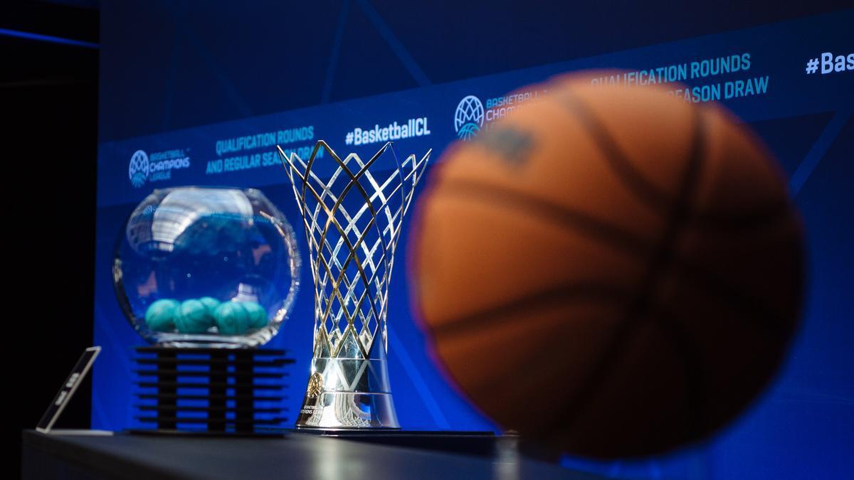 Imagen del sorteo de la Basketball Champions League