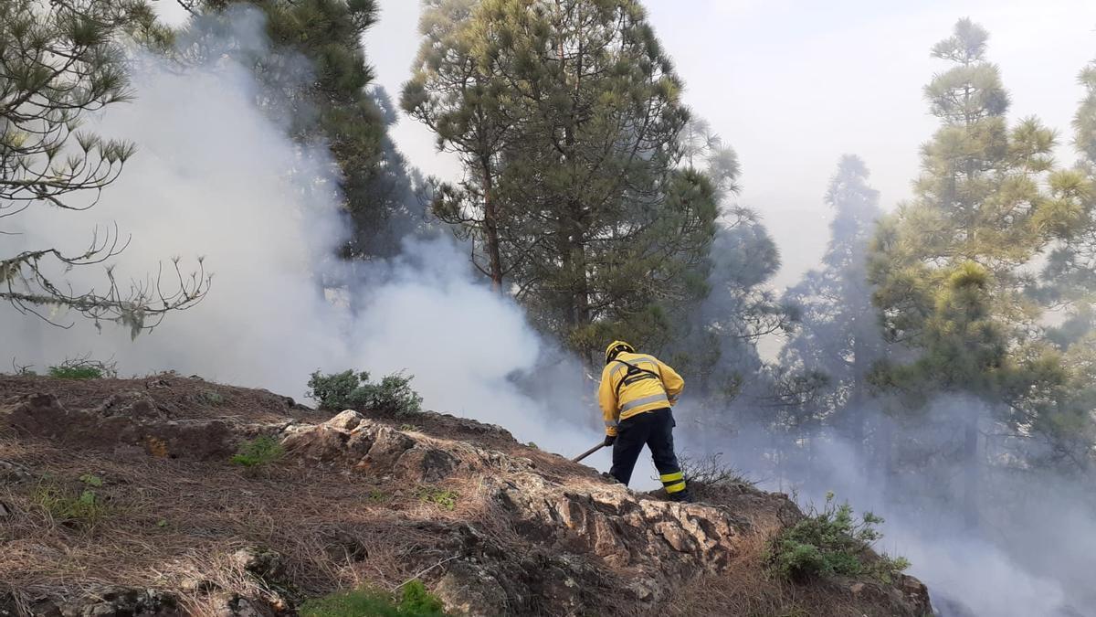 Conato de incendio en Valsequillo, Gran Canaria.