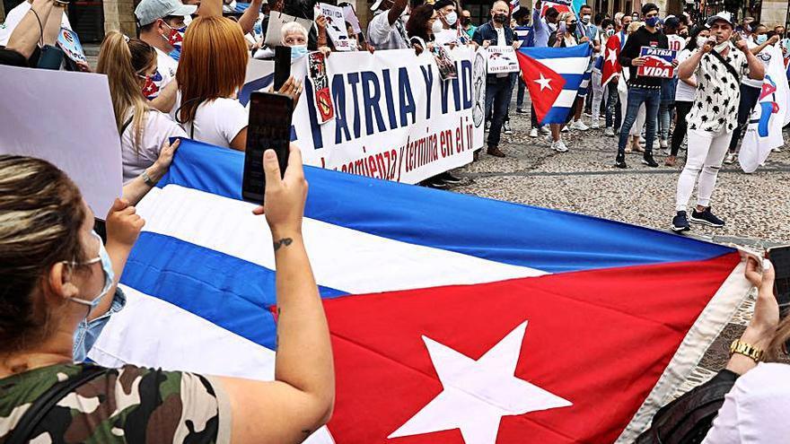 Protesta contra el régimen cubano