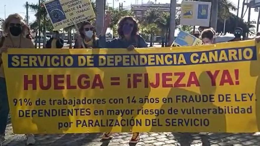 Movilizaciones de los empleados públicos en Santa Cruz de Tenerife