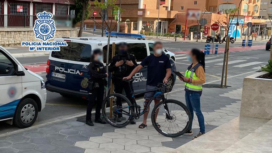 La Policía Nacional detiene a dos personas en Benidorm por robar la bicicleta de un miembro del equipo Eslovaco de Triatlón