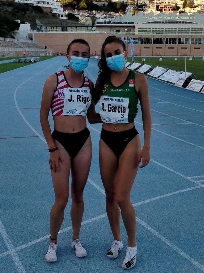Joana Maria Rigo y Daniela García, el miércoles en Nerja