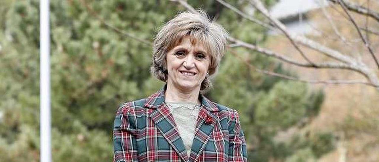 La ministra María Luisa Carcedo, el lunes en Vigo. // José Lores