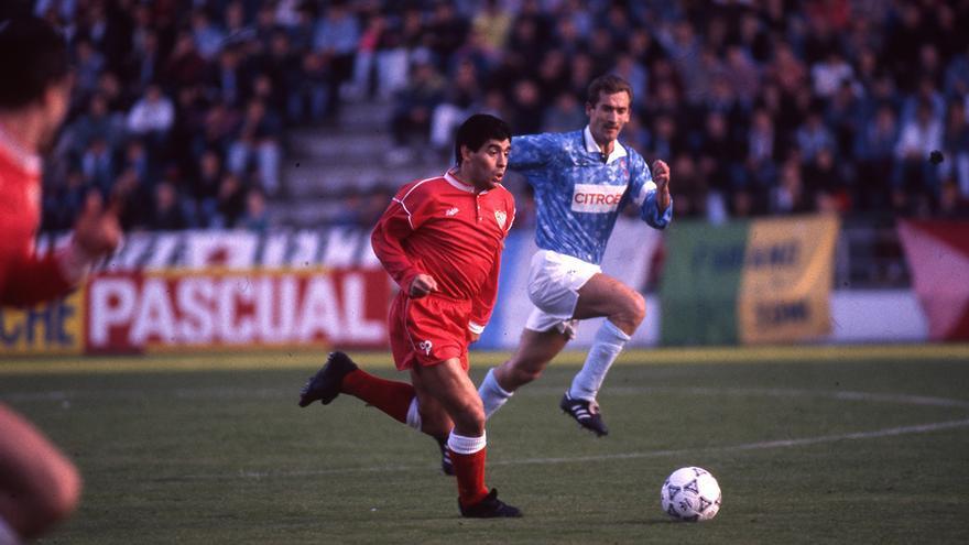 El paso de Maradona por Vigo