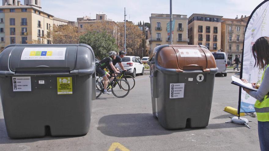 Girona implantarà 27 àrees de contenidors intel·ligents a l'Eixample i el Mercadal
