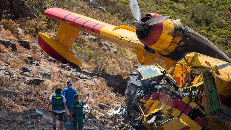 Muere el segundo piloto del hidroavión accidentado en el incendio de Lobios