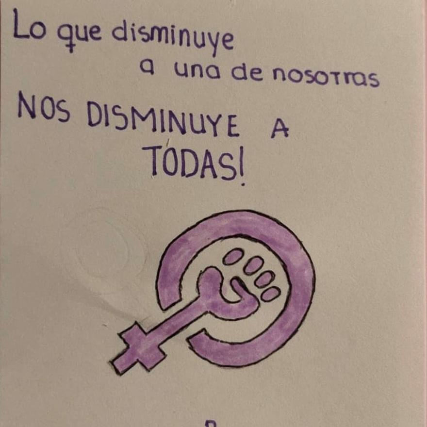 Mensajes contra la violencia de género en el IES Tierra de Campos.