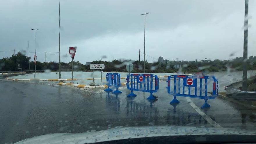 DANA en Murcia | Más de 50 incidentes y dos carreteras cortadas por la lluvia