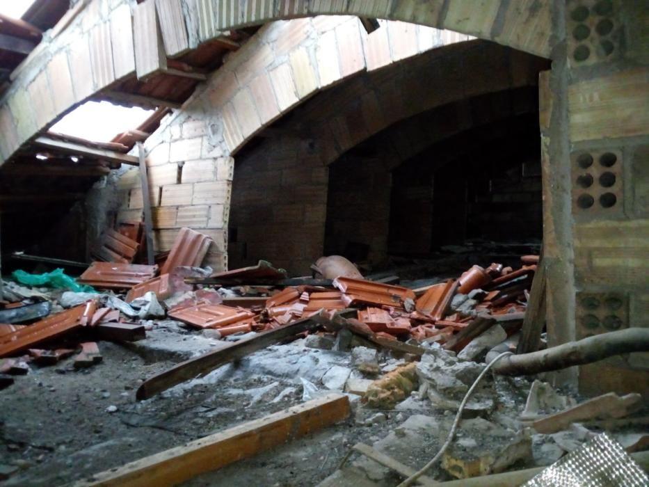 S'esfondra una teulada a Puig-reig