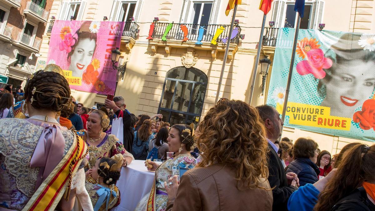 La fiesta fallera de la Diputación, en marzo de 2019.