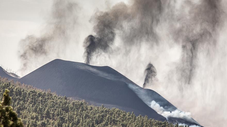 Erupción del volcán este miércoles