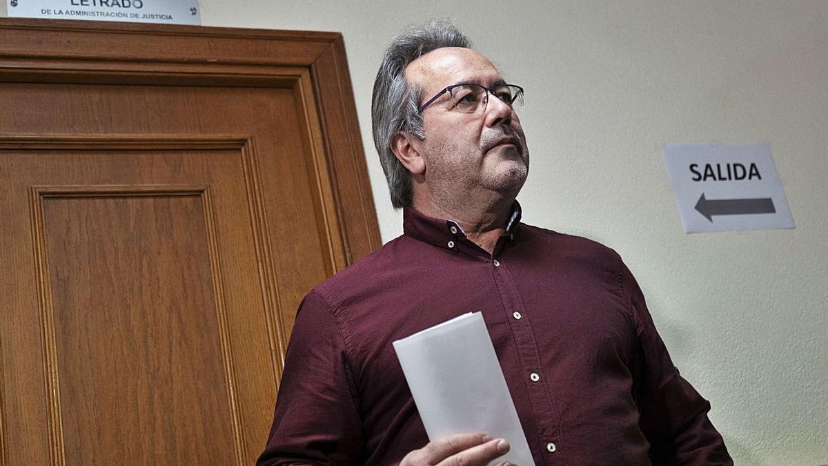 Guarido, en los juzgados tras la denuncia del abogado de Ciudadanos.   Jose Luis Fernández