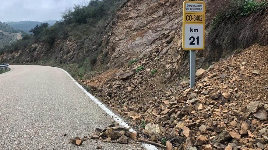 Trassierra pide una intervención urgente para limpiar las cunetas de la carretera que conecta con Córdoba