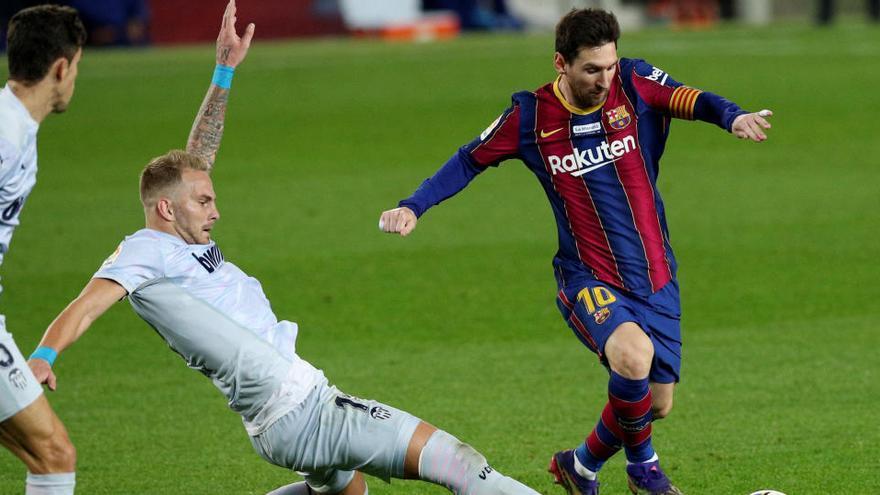 Messi reaparece en Vallecas ante el Rayo para llevar al Barça a cuartos de Copa