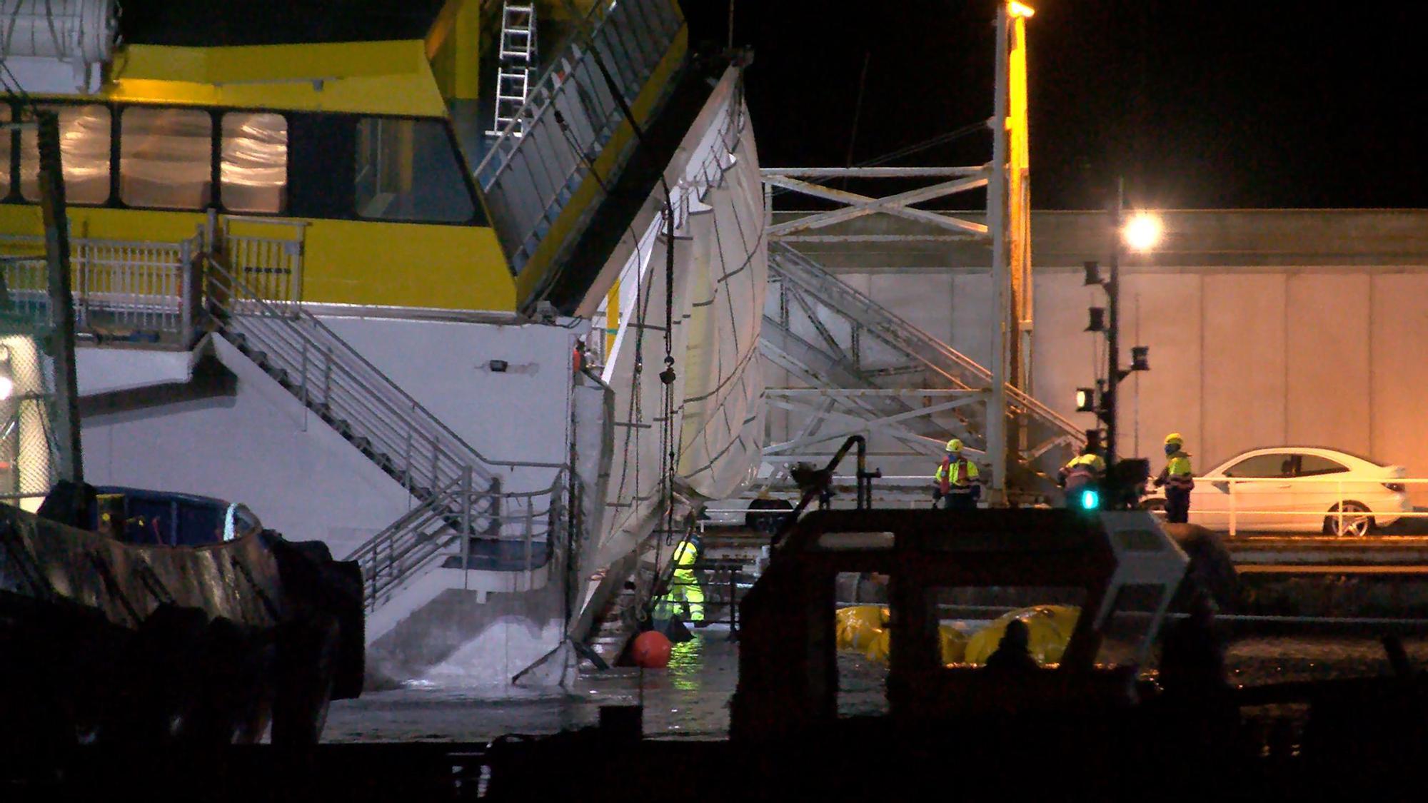 Logran rescatar el buque de Fred Olsen