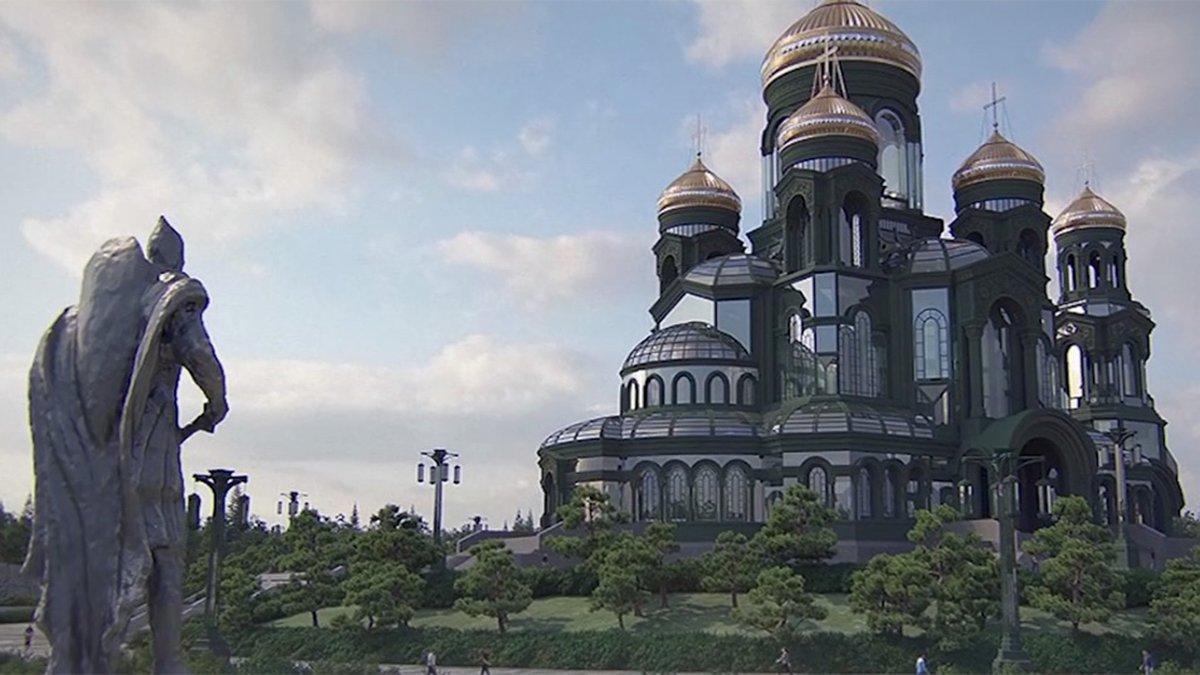 Una nueva iglesia gigante emerge en el horizonte de Moscú