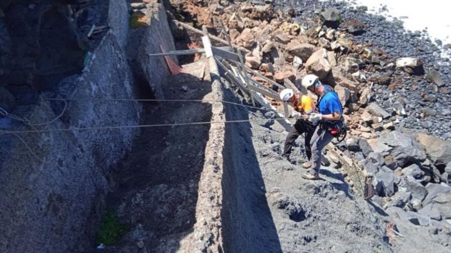 Los técnicos confirman que el desprendimiento de Punta Brava no afecta a viviendas ni vías