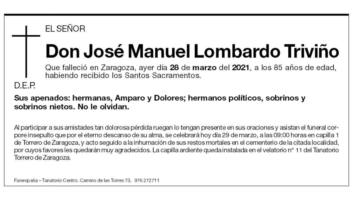 José Manuel Lombardo Triviño