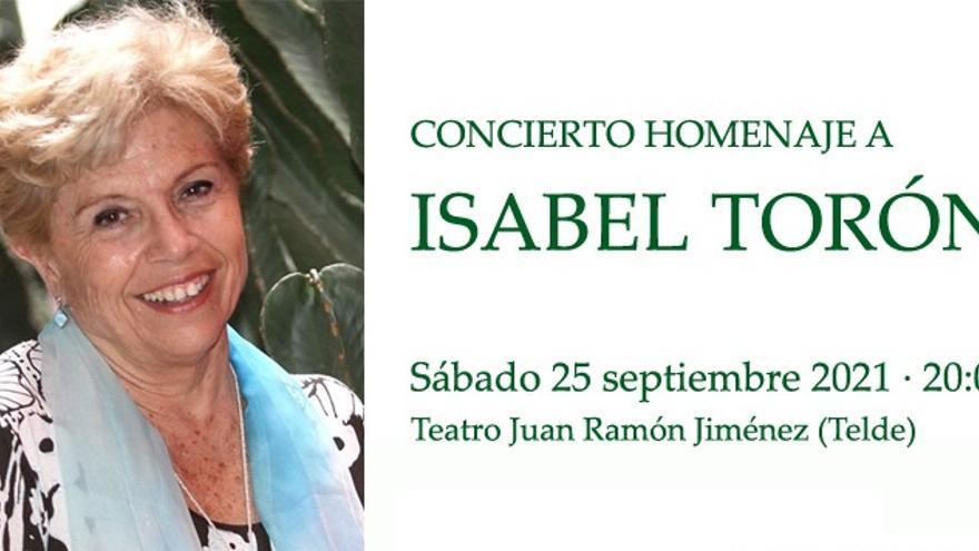 Telde brinda este un homenaje a la cantante y docente Isabel María Torón