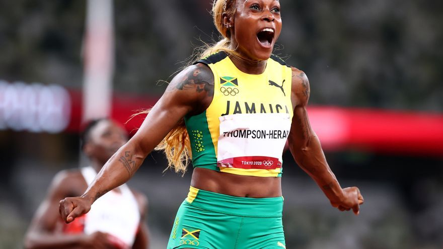 La jamaicana Elaine Thompson marca un récord olímpico para retener la corona de 100 metros