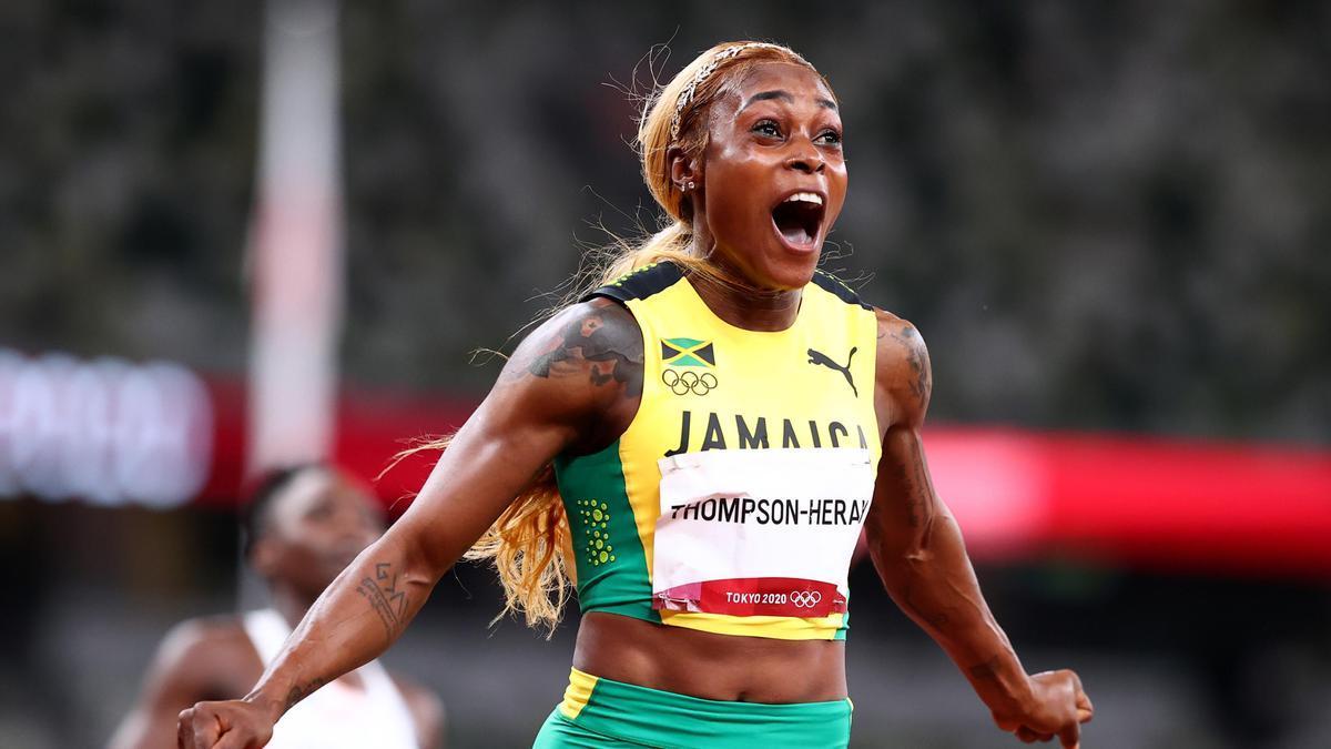 La jamaicana Elaine Thompson.