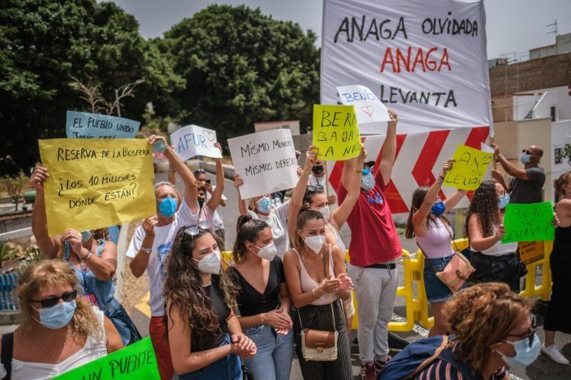 Manifestación para pedir un segundo puente en San Andrés