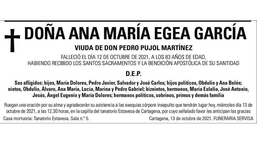 Dª Ana María Egea García