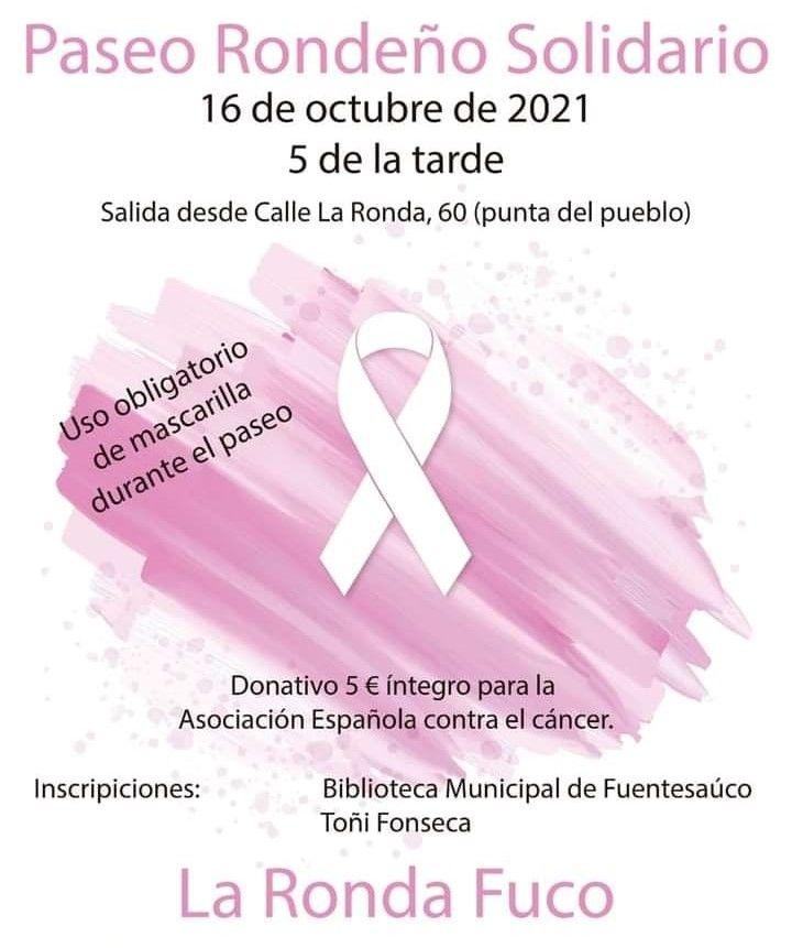 Cartel anunciador de la actividad en Fuentesaúco