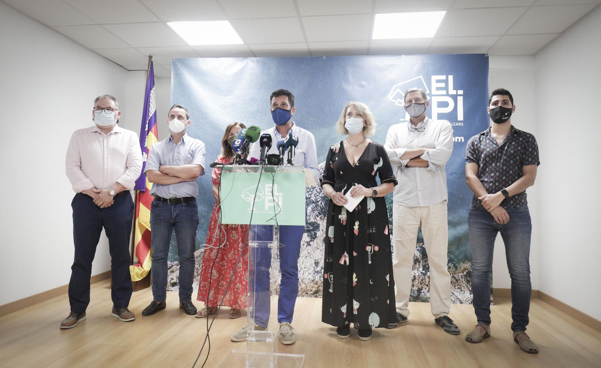 Antoni Amengual comparece para explicar su dimisión como presidente de El Pi