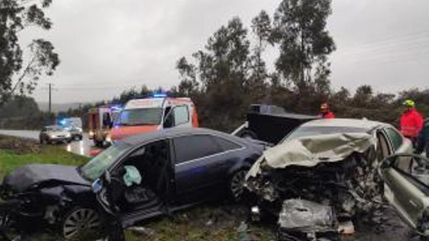 Un herido muy grave tras un violento accidente en Catoira