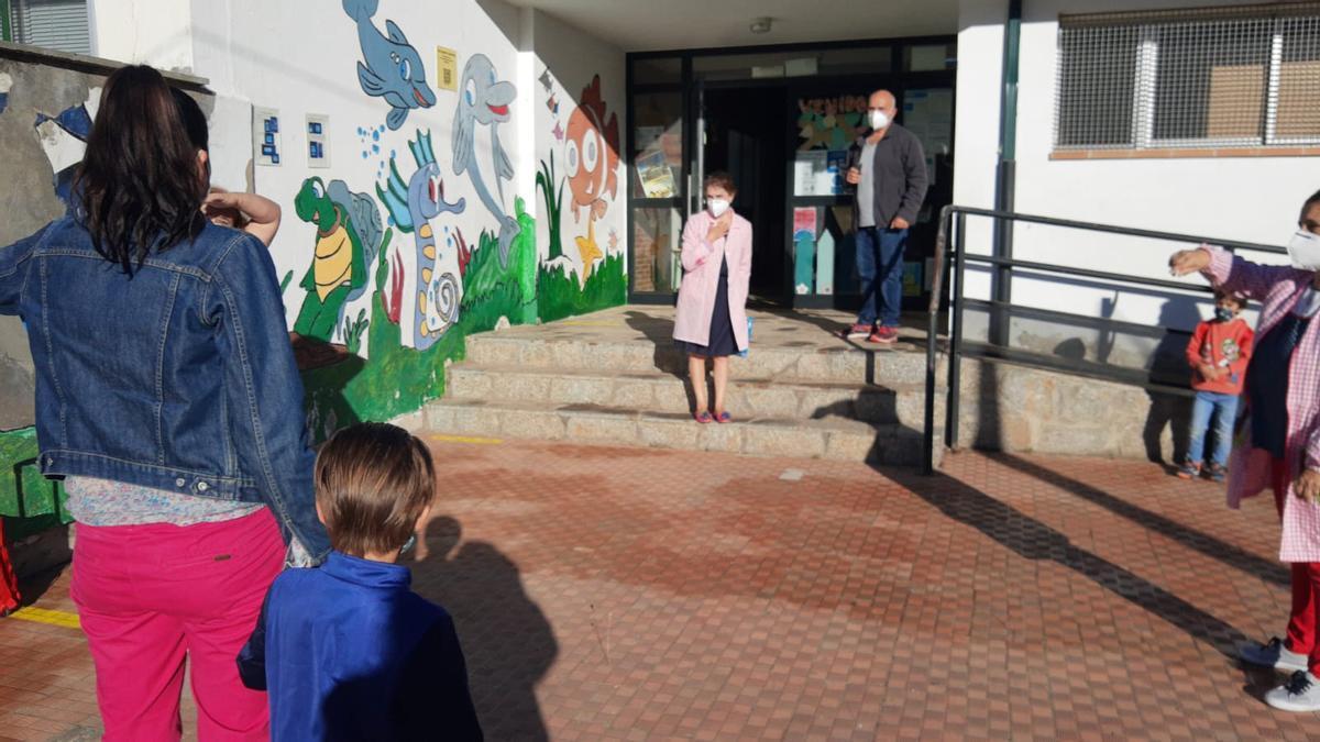 Primer día de clase en un colegio del medio rural.
