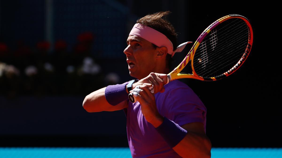 An image of Rafa Nadal at the Mutua Madrid Open.