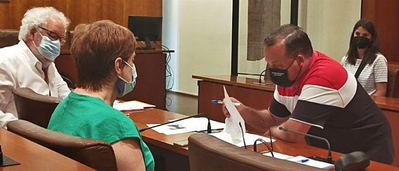 Los concejales, en un Pleno