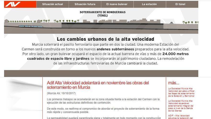 Hackean la web de Murcia Alta Velocidad y ponen mensajes contra el 'muro' del AVE