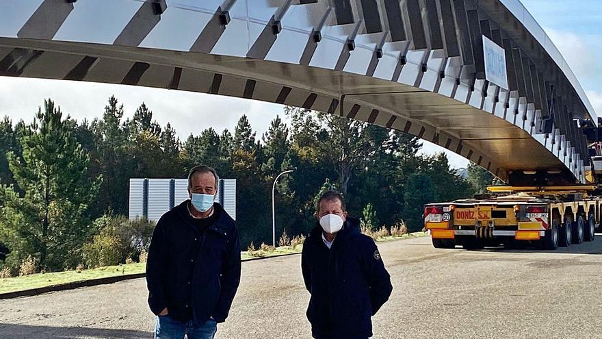 Dizmar fabrica un puente metálico de 205 metros para conectar la T4 de Barajas