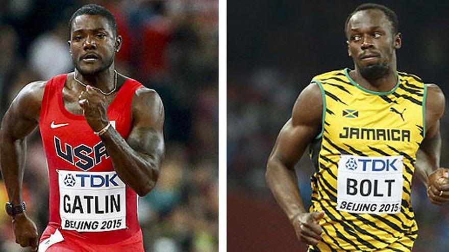Gatlin mete medio y Bolt cumple