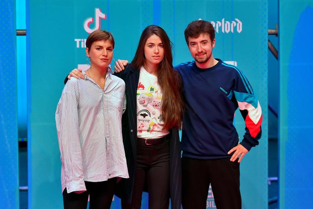 Spanish band Belako pose on the red carpet ahead of the MTV Europe Music Awards at the Bizkaia Arena in the northern Spanish city of Bilbao on November 4, 2018. (Photo by ANDER GILLENEA / AFP)