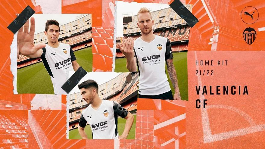 Así son las nuevas camisetas del Valencia CF 21/22