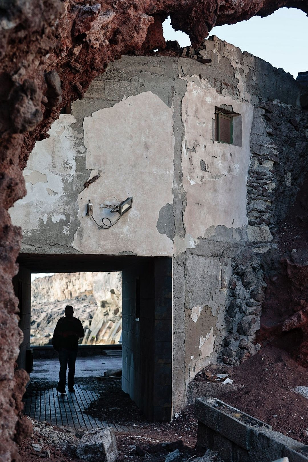 Visita de Pedro Martín a Los Roques de Fasnia