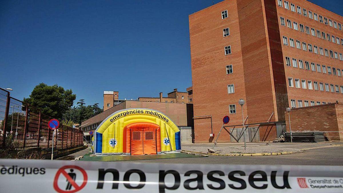 Hospital de campaña en Lleida.