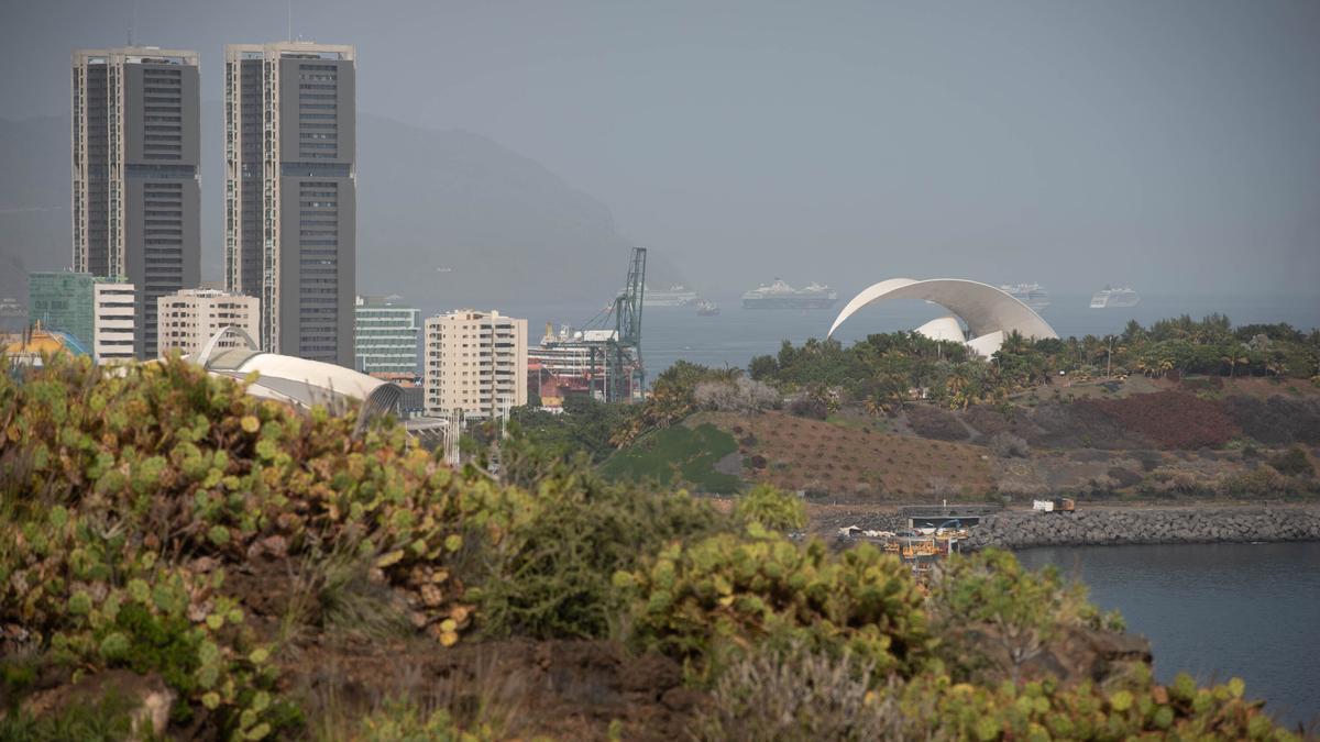 Calima sobre Santa Cruz de Tenerife