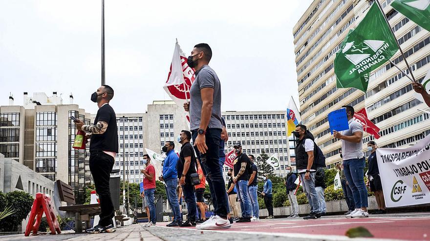 Protesta de la policía autonómica por vulnerarse sus derechos laborales
