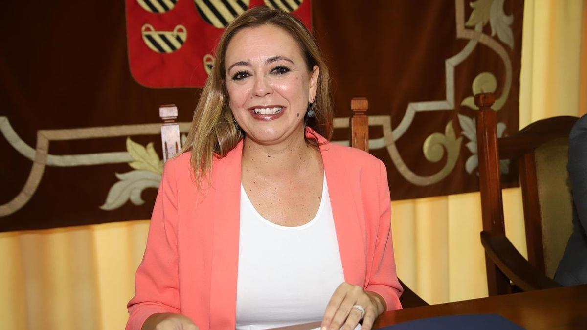 La presidenta de la corporación insular, María Dolores Corujo.