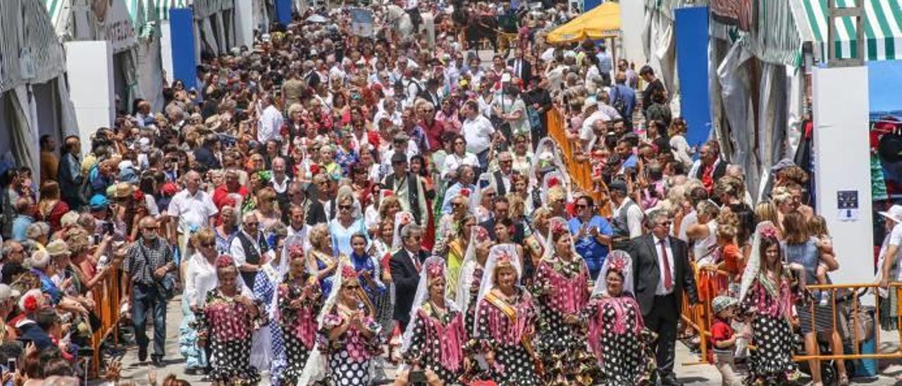 Imagen de la feria de sevillanas de Torrevieja, que se celebró hasta el domingo pasado en el recinto portuario.