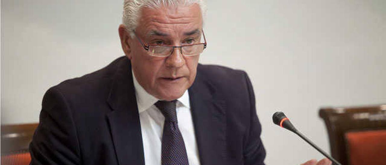 Juan Ramón Hernández, ayer.